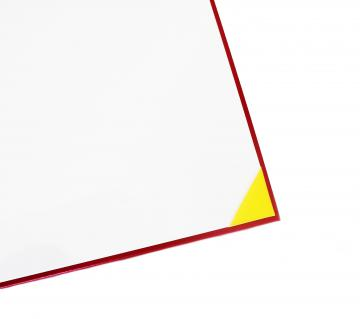 Premium Unmarked Diploma Cover 4 Corners - Red