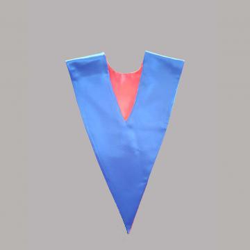 Vue de dos-Côté Bleu Roi-Echarpe en V