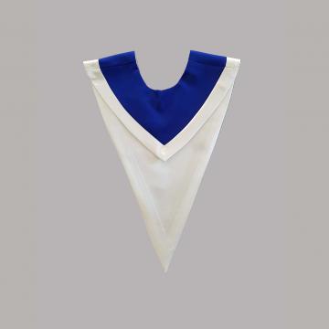 Vue de face-Bleu roi avec liséré blanc
