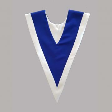 Vue de dos-Bleu roi avec liséré Blanc