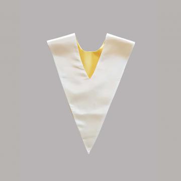 Vue de dos-Côté Blanc-Echarpe V