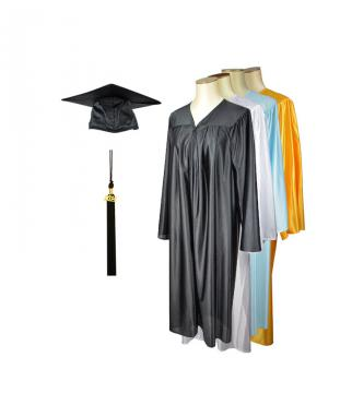 Student cap and gown - Shiny