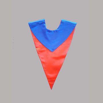 Vue de face-Côté Bleu Roi-Echarpe en V