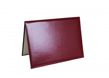 Premium Unmarked Diploma Cover 4 Corners - Maroon