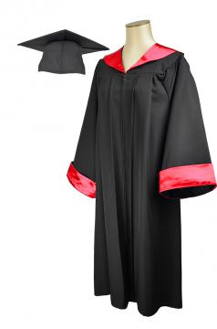 Premium Gown and Matte Cap ( Red - Under 1m70 )