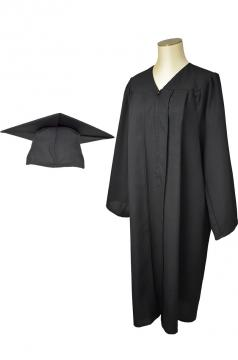 Black Matte Gown and Cap